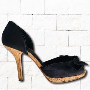 Nordstrom Boutique Black Matte Satin Stilettos 9.6